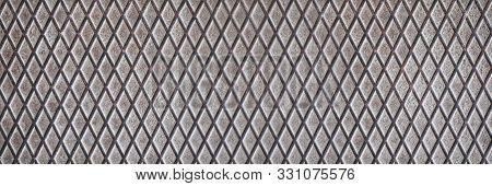 Gray Metal  Wallpaper. A Set Of Dark Metallic Grille For Your Design.
