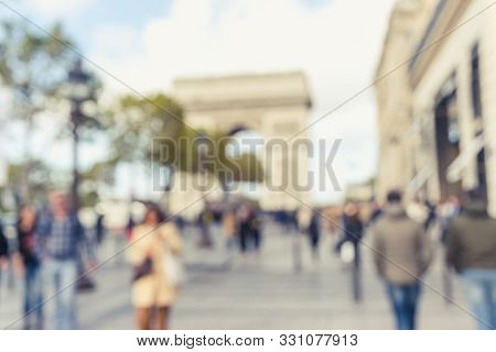 People In City Street Traffic. People City Life Lifestyle. City People. Busy People In Paris. People