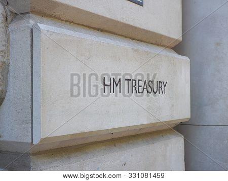 Hm Treasury Sign In London