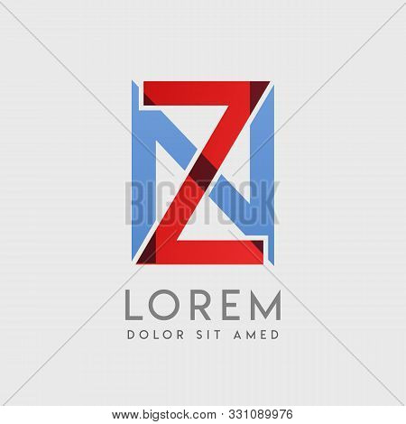 Zn Logo Letters With Blue And Red Gradation