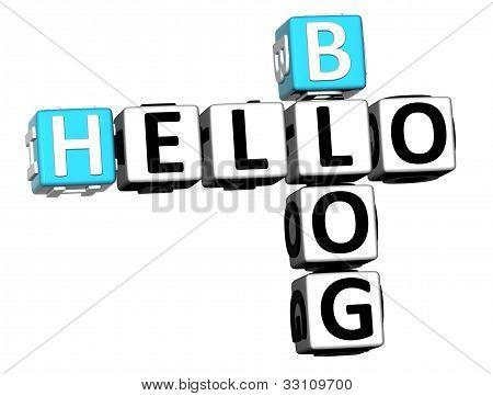 3D Hello Blog Crossword