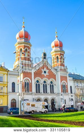 Plzen, Czech Republic - Oct 28, 2019: The Great Synagogue In Pilsen, The Second Largest Synagogue In