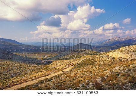 Autumn Mountain Landscape.  Dinaric Alps, Bosnia And Herzegovina, Republika Srpska, Trebinje