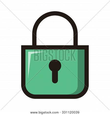 Padlock Icon Isolated On White Background From Miscellaneous Collection. Padlock Icon Trendy And Mod