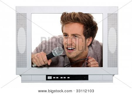 young male tv host