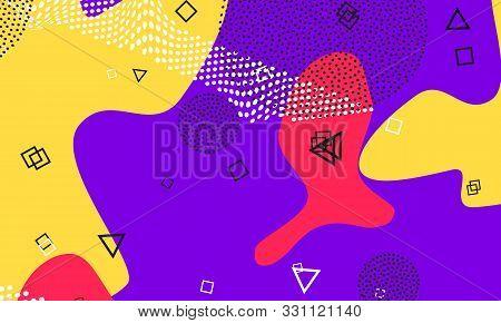 Lavender Color Texture. Minimal Drawing. Terracotta Liquid Poster. Mustard 1980s Pattern. Memphis De