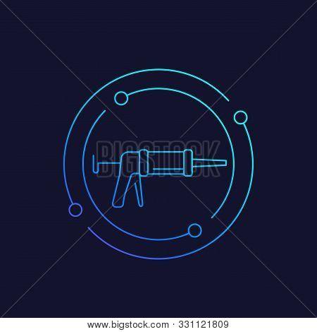 Silicone Gun Linear Icon, Eps 10 File, Easy To Edit