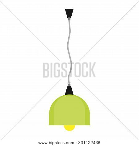 Luster Light Decoration Isolated White Vector Icon. Lamp Room Luxury Shiny Glowing Element Interior.