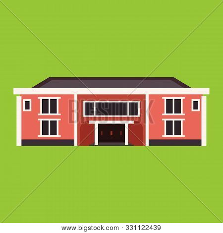 Mansion House Vector Architecture Building. Old Cartoon Apartment Exterior. Real Estate Residence Vi