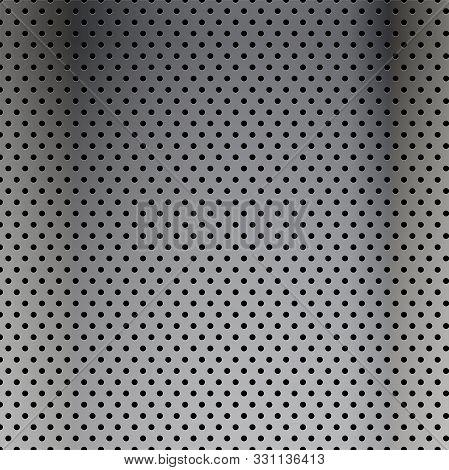 Metal Steel Texture Of Holes, Halftone Pattern