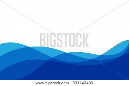 Abstract Blue Background Wave Gradations, Modern Texture Background, Color Gradations Elegant Backgr