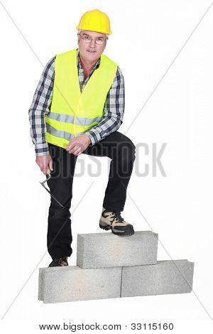 Portrait of a stonemason