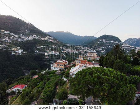 Sunrise Amalfi Coast Cool Color Palette Travel Location Mountains Ocean