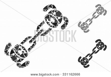 Puppy Chain Composition Of Rugged Items In Different Sizes And Color Tinges, Based On Puppy Chain Ic