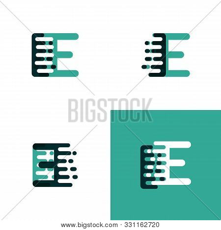 Ie Letters Logo With Accent Speed In Light Green And Dark Green