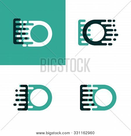 Io Letters Logo With Accent Speed In Light Green And Dark Green