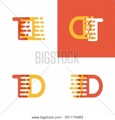 Td Letters Logo With Accent Speed Soft Orange And Yellow