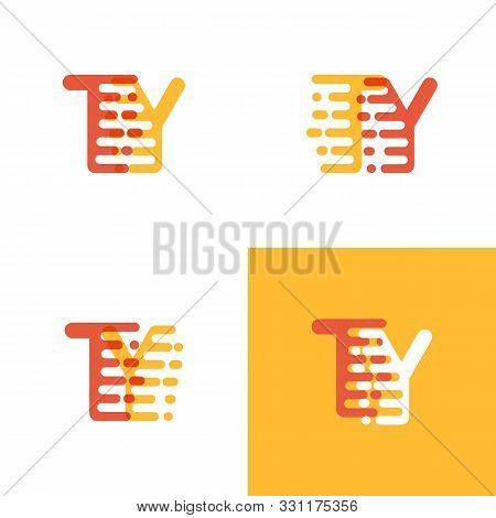 Ty Letters Logo With Accent Speed Soft Orange And Yellow