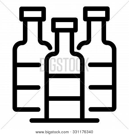 Medical Bottle Icon. Outline Medical Bottle Vector Icon For Web Design Isolated On White Background