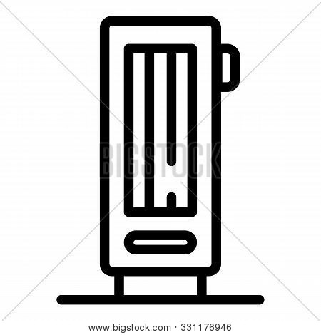 Air ionizer icon. Outline air ionizer vector icon for web design isolated on white background poster