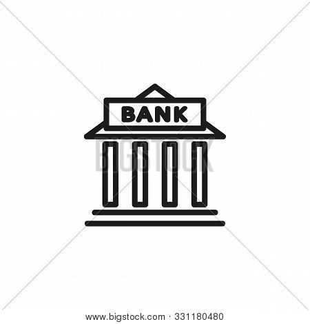 City Bank Line Icon. Money, Finance, Building. Government Concept. Vector Illustration Can Be Used F