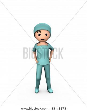 3D Person Young Doctor