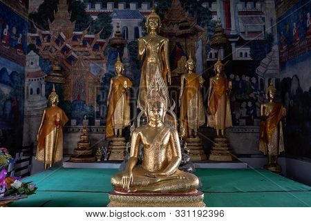 The Buddha Statue In Uthai Thani Province Of Thailand
