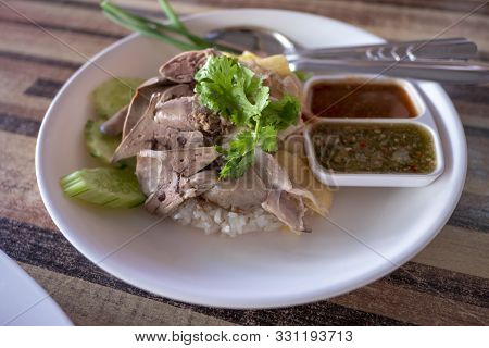 Rice Steamed With Chicken Soup , Thai Food