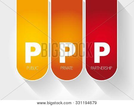 Ppp - Public Private Partnership, Acronym Business Concept