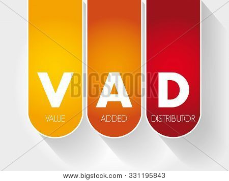 Vad - Value Added Distributor Acronym, Business Concept Background