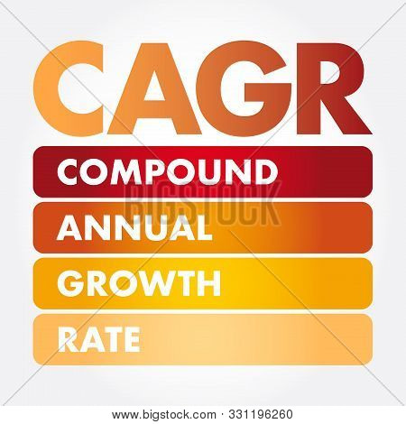 Cagr - Compound Annual Growth Rate Acronym, Business Concept Background