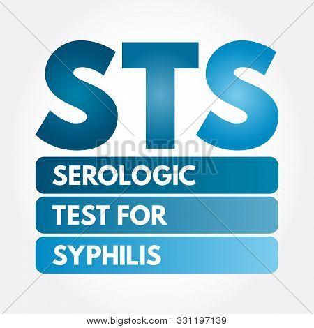 Sts - Serologic Test For Syphilis Acronym, Medical Concept Background