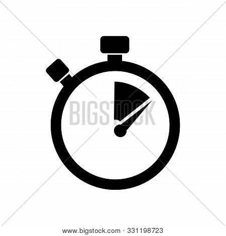 Stopwatch / Stop Watch Timer Logo Icon Vector Illustration Design Template