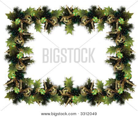 Christmas Garland Border Green