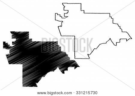 Moreno Valley City (united States Cities, United States Of America, Usa City) Map Vector Illustratio