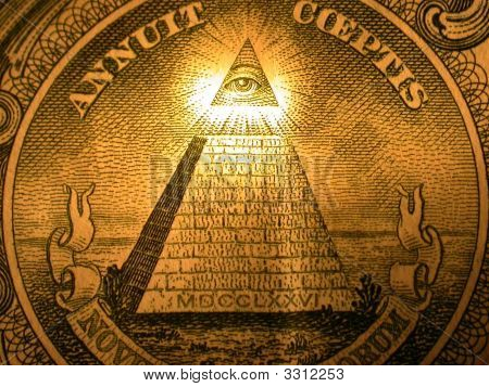 Pyramid On The Back Of A One Dollar Bill