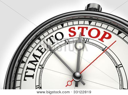 Time To Stop Concept Clock