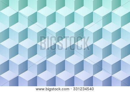 Pattern Of Colored Cubes. Multicolored Cubic Background. Abstract Cube Pattern Background And Decora