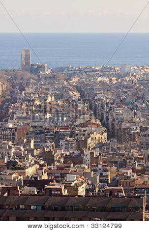 Barcelona city view, Spain.