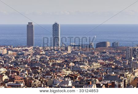 Barcelona city view, Spain.