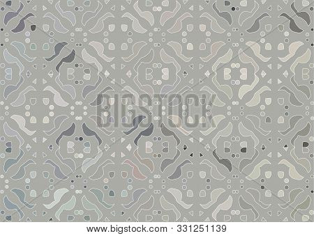Seamless Subtle Gray Octagonal Stars Exclusion Moroccan Pattern Vector