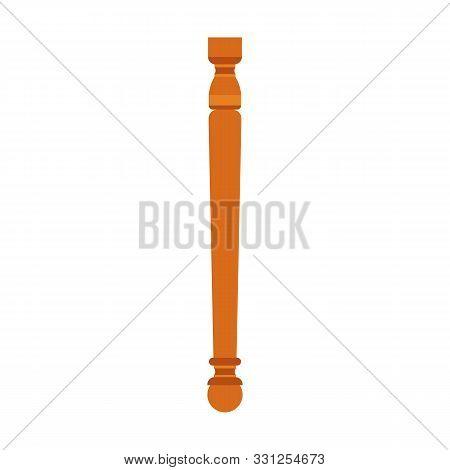 Baluster Architecture Vector Column Design. Pillar Classic Element Interior Antique. Isolated Vintag