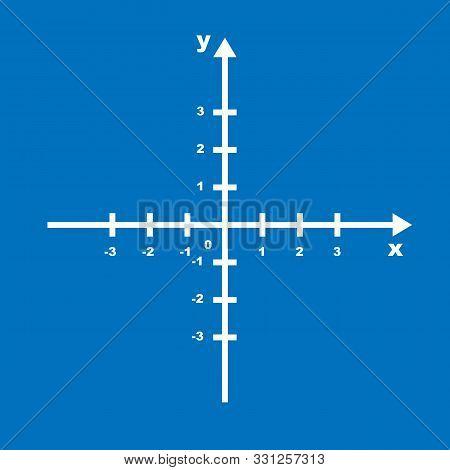 Cartesian Coordinate System Plane Chart Axis Diagram White. Graph Arrow Data Symbol Direction Illust