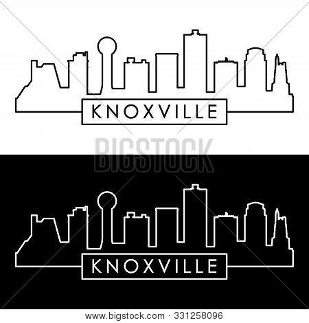 Knoxville Skyline.  Linear Style. Editable Vector File.