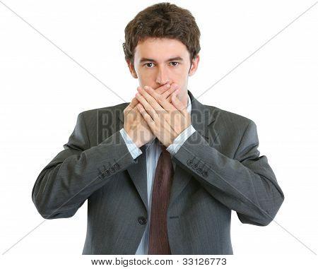 Modern Businessman Speak No Evil