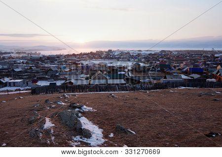 The Village Khuzhir In Winter, Olkhon Island, Lake Baikal, Siberia, Russia