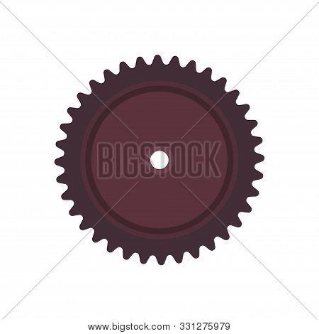 Spur Gear Vector Icon Engineering Wheel Equipment Pinion. Cogwheel Technology Illustration Circle En