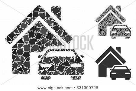 Property Composition Of Tuberous Pieces In Variable Sizes And Color Hues, Based On Property Icon. Ve
