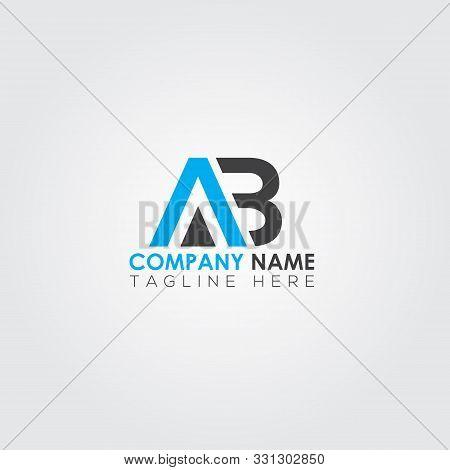 Ab Letter Type Logo Design. Ab Logo Vector Template. Text Logo. Letter Logo. Creative Ab Logo. Lette