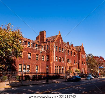 Pittsburgh, Pennsylvania, Usa 11/2/19 Jones Hall As Seen From Ridge Avenue At The Community College